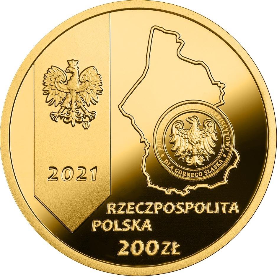 Польша монета 200 злотых 100 лет Третьему Силезскому восстанию, аверс