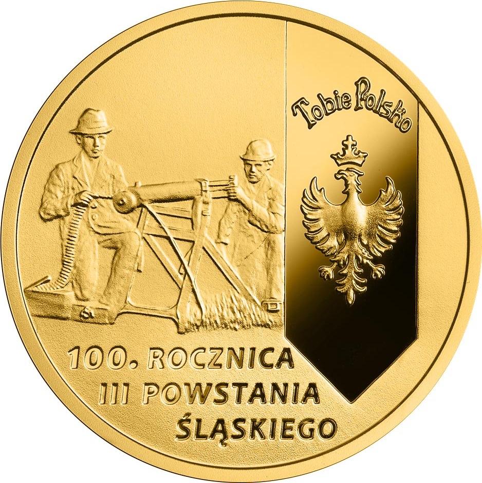 Польша монета 200 злотых 100 лет Третьему Силезскому восстанию, реверс