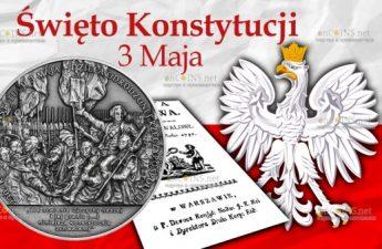 Польша монета 50 злотых 230 лет Конституции 3 мая