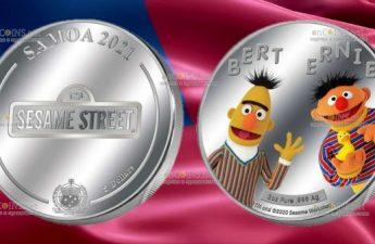 Самоа монета 5 долларов Берт и Эрни