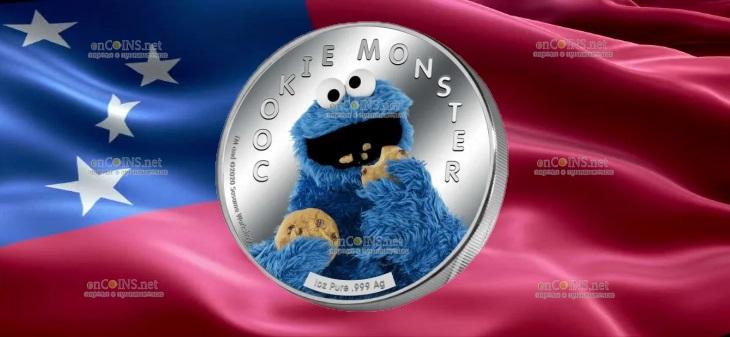 Самоа монета 5 долларов Коржик