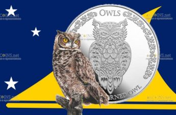 Токелау монета 1 доллар Большая рогатая сова