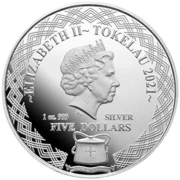 Токелау монета 1 доллар Большая рогатая сова, аверс