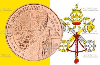 Ватикан монета 20 евро Святой Петр