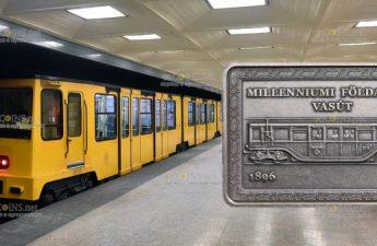 Венгрия монета 2000 форинтов Подземная железная дорога Миллениум