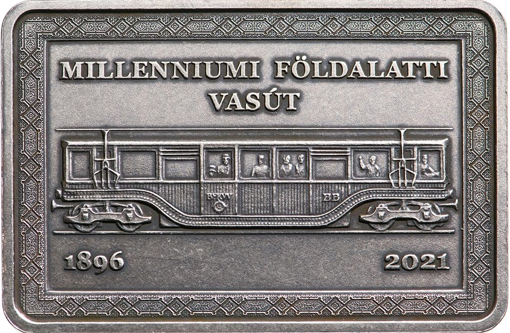 Венгрия монета 2000 форинтов Подземная железная дорога Миллениум, реверс