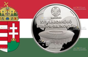Венгрия выпустила монету 10000 форинтов XVI Чемпионат Европы по футболу