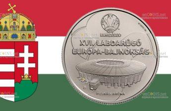 Венгрия выпустила монету 2000 форинтов XVI Чемпионат Европы по футболу