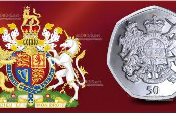 Южная Джорджия и Южные Сандвичевы острова монета 50 пенсов