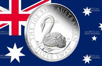 Австралия монета 1 доллар Австралийский лебедь