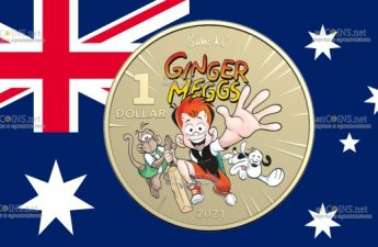Австралия монета 1 доллар Джинджер Меггс