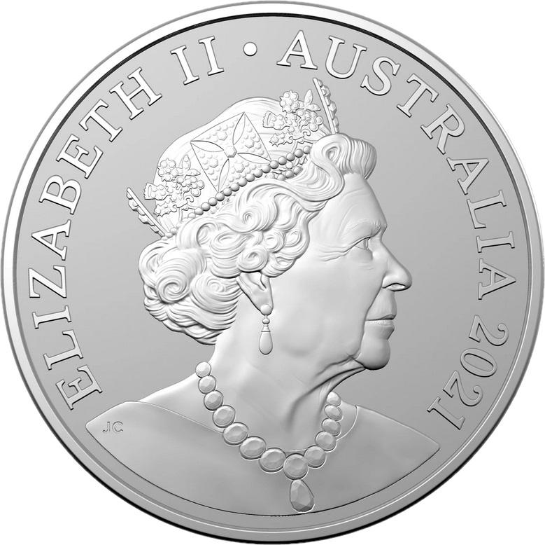 Австралия монета 1 доллар Джинджер Меггс, аверс