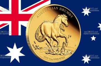 Австралия монета 100 долларов Австралийский Брамби