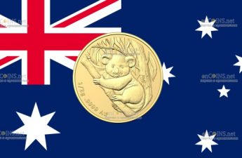 Австралия монета 2 доллара Коала