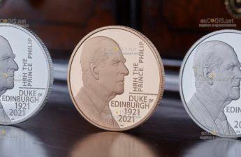 Британия выпускает серию монеты, посвященных принцу Филиппу