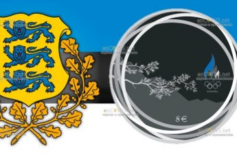 Эстония монету 8 евро Зимние Олимпийские Игры в Пекине