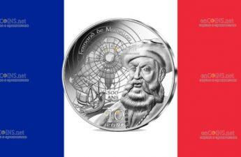 Франция монета 10 евро Фернан де Магеллан