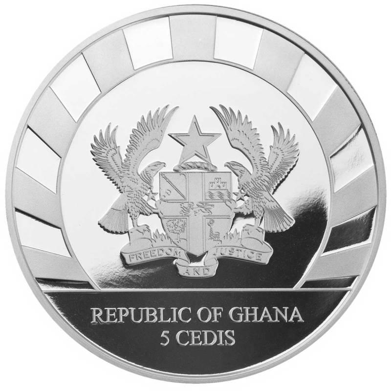 Гана монета 5 седи, аверс