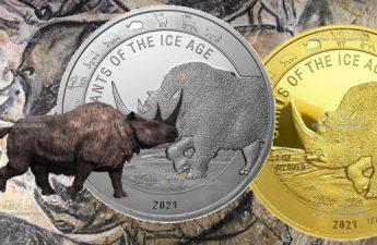 Гана монета Шерстистый Носорог