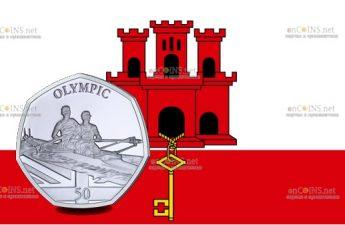 Гибралтар монета Академическая гребля