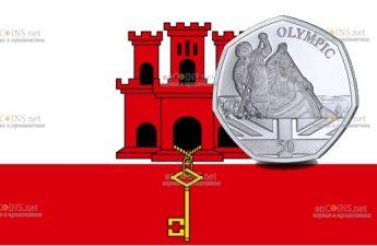 Гибралтар монета гребля на каноэ