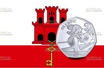 Гибралтар монета Велогонщик
