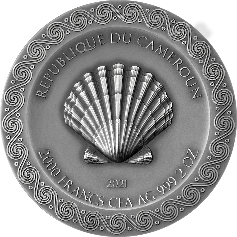 Камерун монета 2000 франков КФА Рождение Венеры, аверс