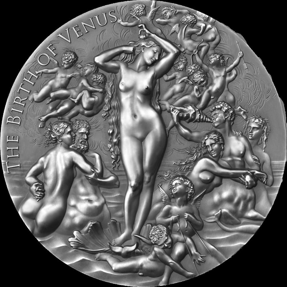 Камерун монета 2000 франков КФА Рождение Венеры, реверс