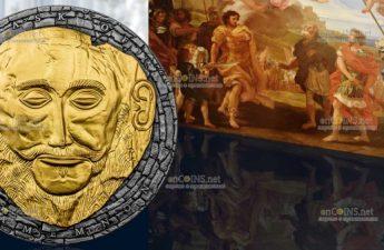 Камерун монета 3000 франков Маска Агамемнона