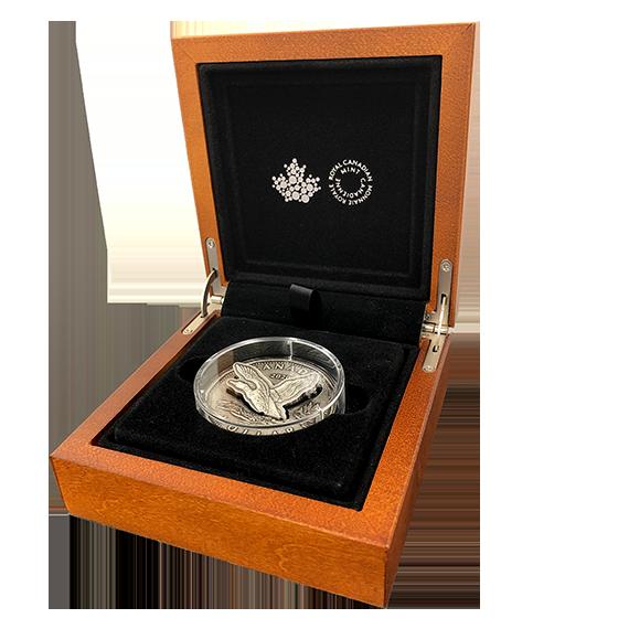 Канада монета 1 доллар Летающий Гагара, подарочная упаковка