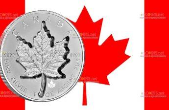 Канада монета 20 долларов Золотой кленовый лист
