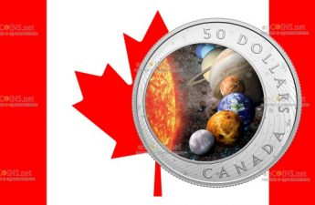 Канада монета 50 долларов Солнечная Система