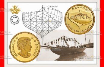 Канада отчеканила монету 100 долларов Синеносая - Bluenose