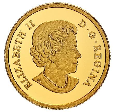 Канада отчеканила монету 100 долларов Синеносая - Bluenose, аверс