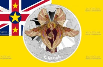 Ниуэ монета 1 доллар Херувим