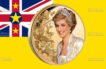 Ниуэ монета 100 долларов Диана Принцесса Уэльская