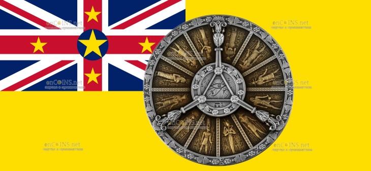 Ниуэ монета 2 доллара Египетский календарь