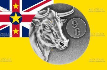 Ниуэ монета 5 долларов Бык Yin Yang