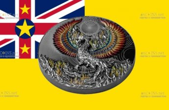Ниуэ монета 5 долларов Феникс