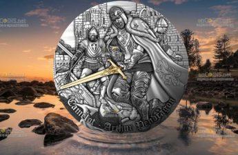 Ниуэ монета 5 долларов Король Артур