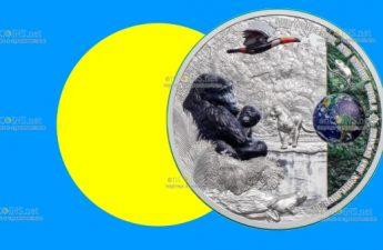 Палау монета 10 долларов Тропический лес