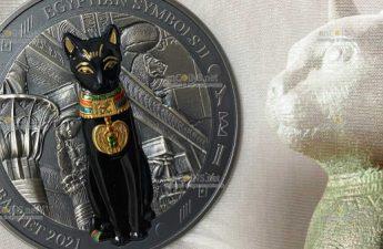 Палау монета 20 долларов Бог-кошка Бастет