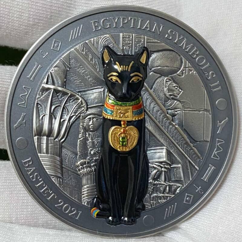 Палау монета 20 долларов Бог-кошка Бастет, реверс