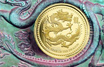 Самоа монета 88 тала Год Дракона