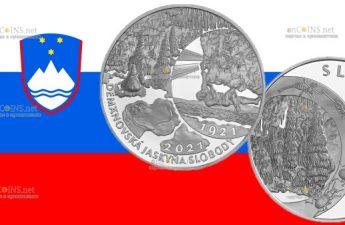 Словения выпустит в обращение монету 20 евро Деменовская пещера Свободы