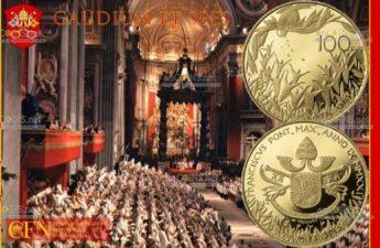 Ватикан монета 100 евро Конституция Gaudium et Spes