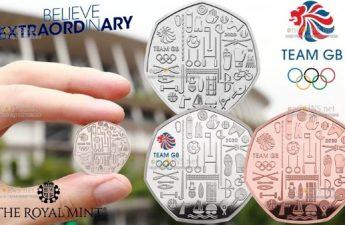 Великобритания выпускает серию монет к Олимпиаде в Токио