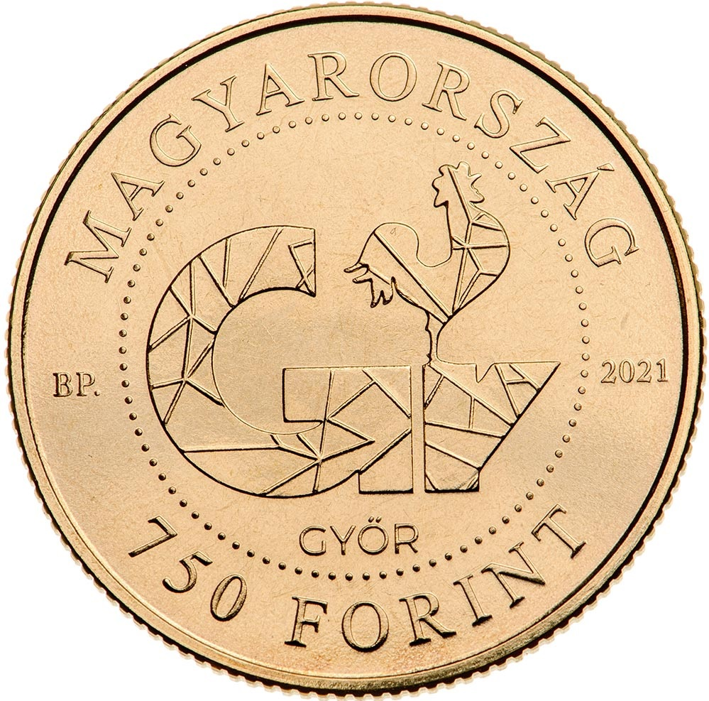 Венгрия монета 750 форинтов Дьор, аверс