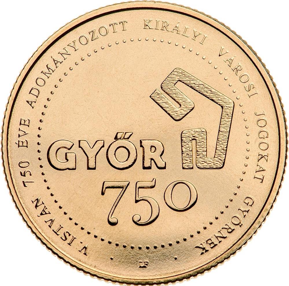 Венгрия монета 750 форинтов Дьор, реверс