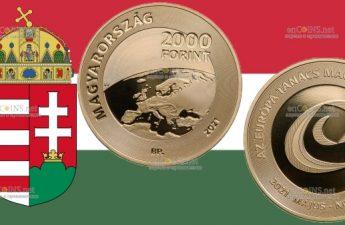 Венгрия монетау 2000 форинтов Председательство Венгрии в Совете Европы